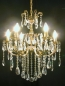 Preview: Traditional crystal chandelier solid brass casting frame *Gold or Silver*