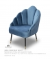 Preview: Vintage Sessel Blau Samt