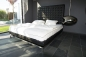 Preview: Highback bed leather black
