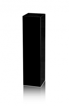 Black marble gallery stand, decoration stone socket, totally 47 kg 100 x 25 x 25 cm.