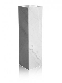 White marble gallery column, decoration stone socket, totally 50 kg. 70 x 40 x 30 cm - Kopie - Kopie