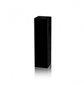 Black small black marble gallery stand, decoration stone socket, totally 30 kg. 80 x 22 x 22 cm