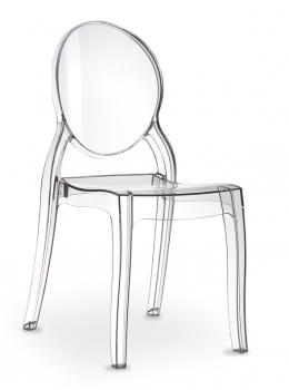 Acrylic Ghost chair Elizabeth made of polycarbonate, it seems to be real glass!