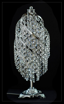 Wonderful crystal table light with real crystals!
