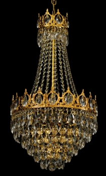 Large royal crystal chandelier with 6 lights and real crystals.