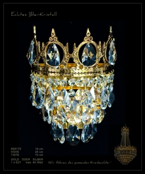 Royal crystal wall light
