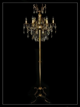 AMAZING CRYSTAL STANDING LIGHT WITH REAL CRYSTALS -GOLD OR SILVER-
