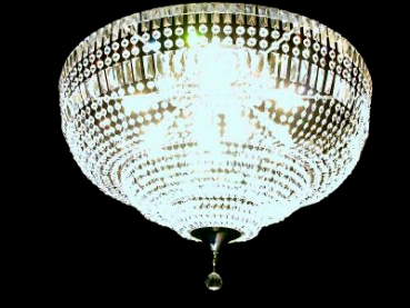 Royal ceiling chandelier with squarely crystals -Amazing! Other sizes possible.