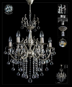 Traditional crystal chandelier solid brass casting frame *Gold or Silver*