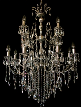 Gigantically two floor chandelier with 12 illuminates