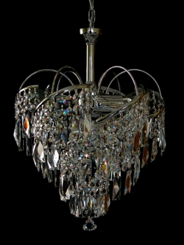 Chandelier with SQUARELY CRYSTALS! Very Rare!