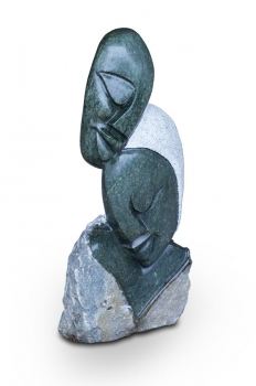 "Shona Art stone sculpture ""Harmony"" handmade in solid Opal stone. Height 70 cm 45 kg.."