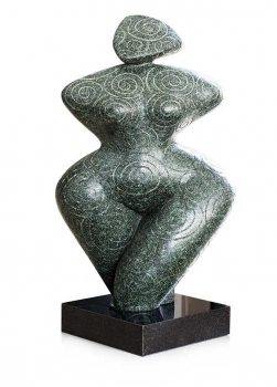 SOLID STONE STATUE / SCULPTURE / FEMALE CURVED 40 KG WEIGHT