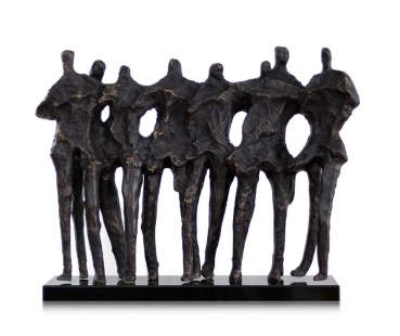 "SCULPTURE ""8 FRIENDS* MADE OF STONE AND GRANITE 17 kg"