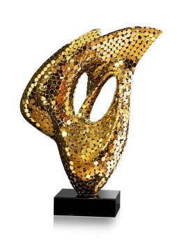ABSTRACTLY SCULPTURE A FIREWORK OF FILIGRANE CRAFTSMANSHIP IN STAINLESS STEEL GOLD PLATED OR POLISHED STEEL