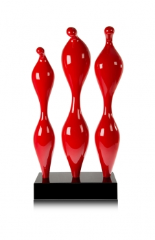 Amazing modern plastik / sculpture / statuette in shiny red.