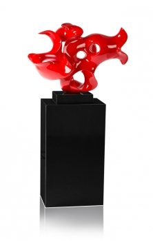 AMAZING PLASTIK / SCULPTURE / STATUE IN SHINY RED, SHINY WHITE OR MAT WHITE.