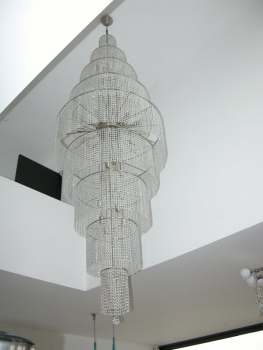 Large modern crystal chandelier