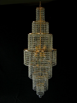 AMAZING DESIGNER CHANDELIER WITH REAL CRYSTALS.