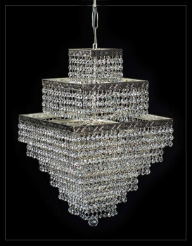 Squarely crystal chandelier