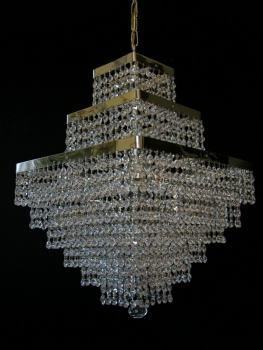 Cube chandelier with 4 illuminates - Very rare!