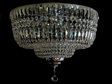 Ceiling chandelier with squarely crystals - No chain!