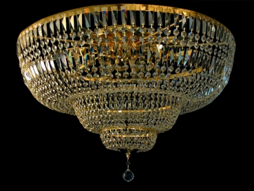 Royal ceiling chandelier with squarely crystals -Amazing! 80 cm, 130 or 150 cm diameter possible