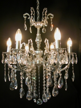 Traditional crystal chandelier solid brass casting frame *Gold or Silver* - Kopie