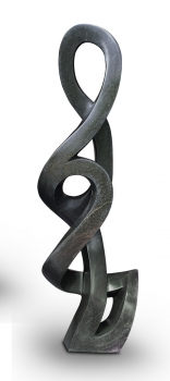 "Living room garden Stone sculpture ""Magic Flower"" handmade in Zimbabwe. Height 112 cm. 40 kg."