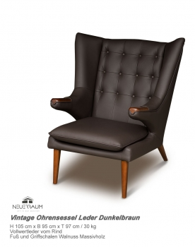 Lounge Club Sessel Leder Braun