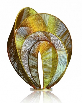 "Huge painted steel sculpture ""Over the rainbow"" . Height 83 cm."