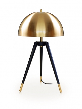 Mushroom tripod table desk light. Stainless steel gold plated. High Quality. H 61 cm x ø 35 cm.