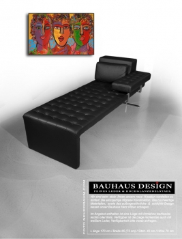 Bauhaus Daybed leather black