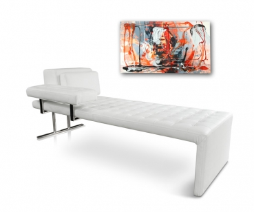 BAUHAUS DAYBED CHAISELONGUE LEATHER LOUNGER LEATHER WHITE