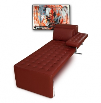 Bauhaus Récamière Daybed leather wine