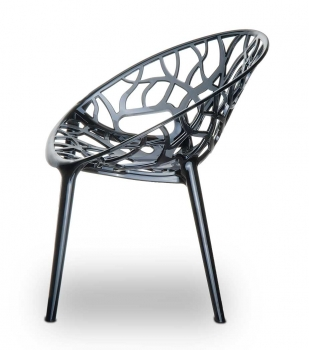 AMAZING POLYAMIDE CHAIR NATURE IN TRANSPARENT BLACK