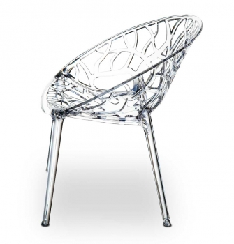 AMAZING GHOST CHAIR NATURE IN TRANSPARENT CLEAR.