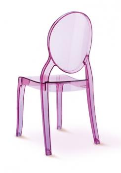 ... » Acryl Plexiglas Stuhl für Kinder, verfügbar in Rosa und Rot