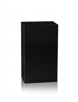 Black marble gallery stand, decoration stone socket, totally 47 kg 70 x 40 x 30 cm