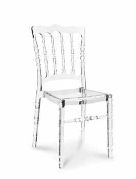 Acrylic Ghost chair Vintage look made of polycarbonate, it seems to be real glass!