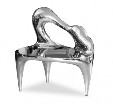 Amazing stainless steel sculpture piano shape handmade polished.