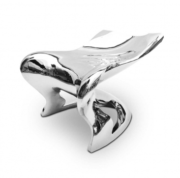 Amazing stainless steel sculpture chair mirror polished. Handmade & unique!