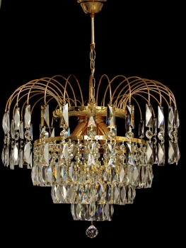 Crystal raining chandelier with 6 illuminates!