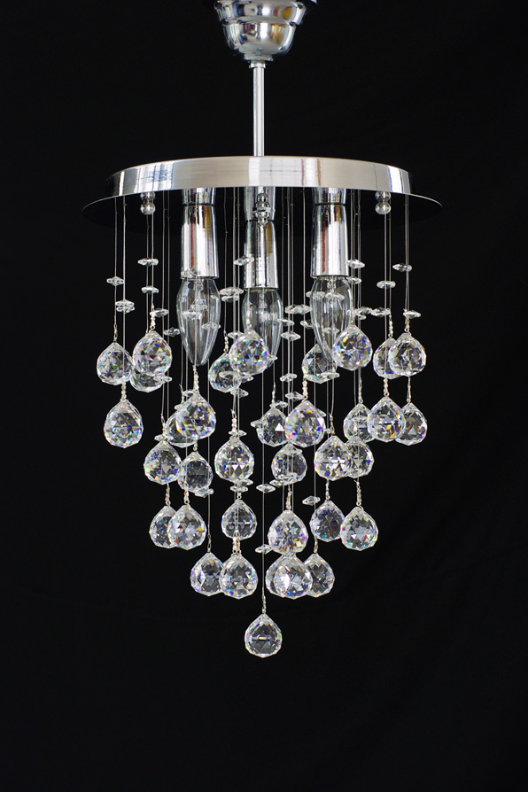 Chandelier With Real Crystal Balls!