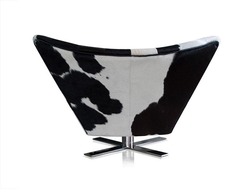 Black Cow Skin Chair. Black Cow Skin Wing Chair Design