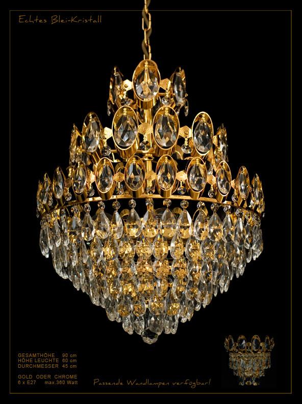Königlicher Kristall Korblüster Mit 3 Ebenen. *Echtes Bleikristall*