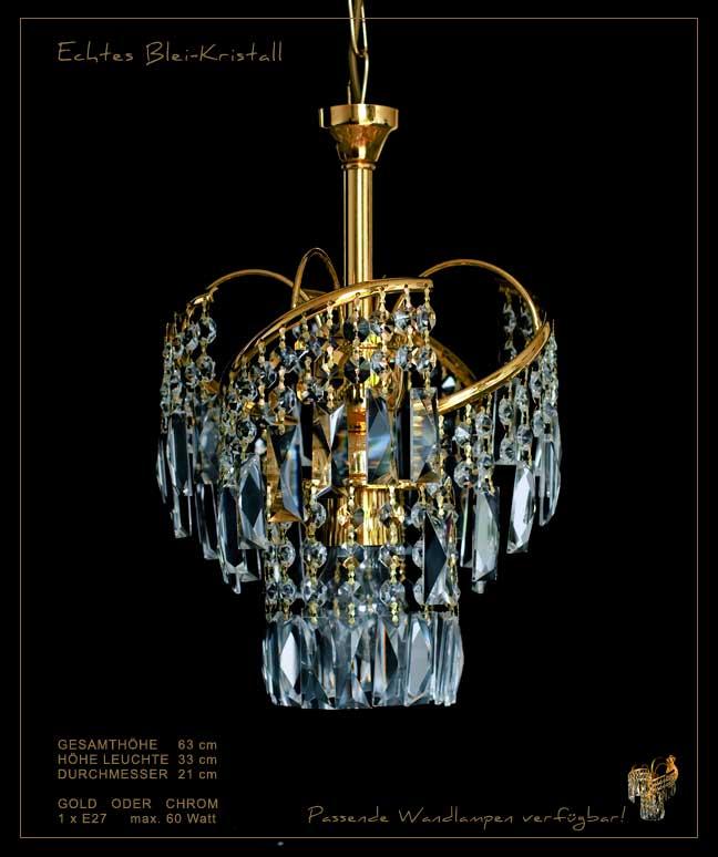 KRONLEUCHTER MIT RECHTECKIGEM BLEI-KRISTALL GOLD ODER SILBER WANDLAMPEN VERFÜGB. Lampy i świeczniki Wykonane od 1945