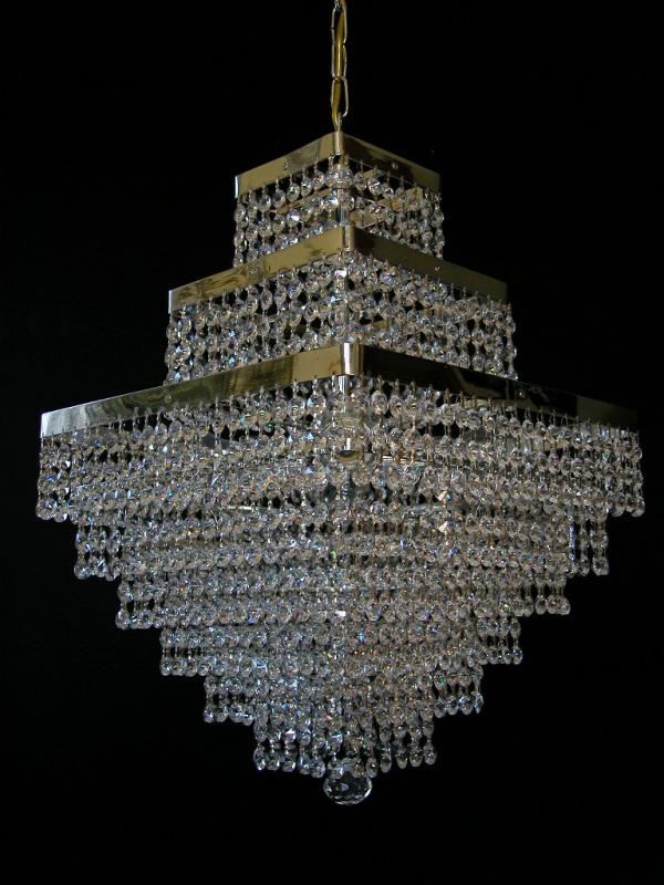 quadratischer rechteckiger kristall kronleuchter echtes bleikristall moderner kristall. Black Bedroom Furniture Sets. Home Design Ideas