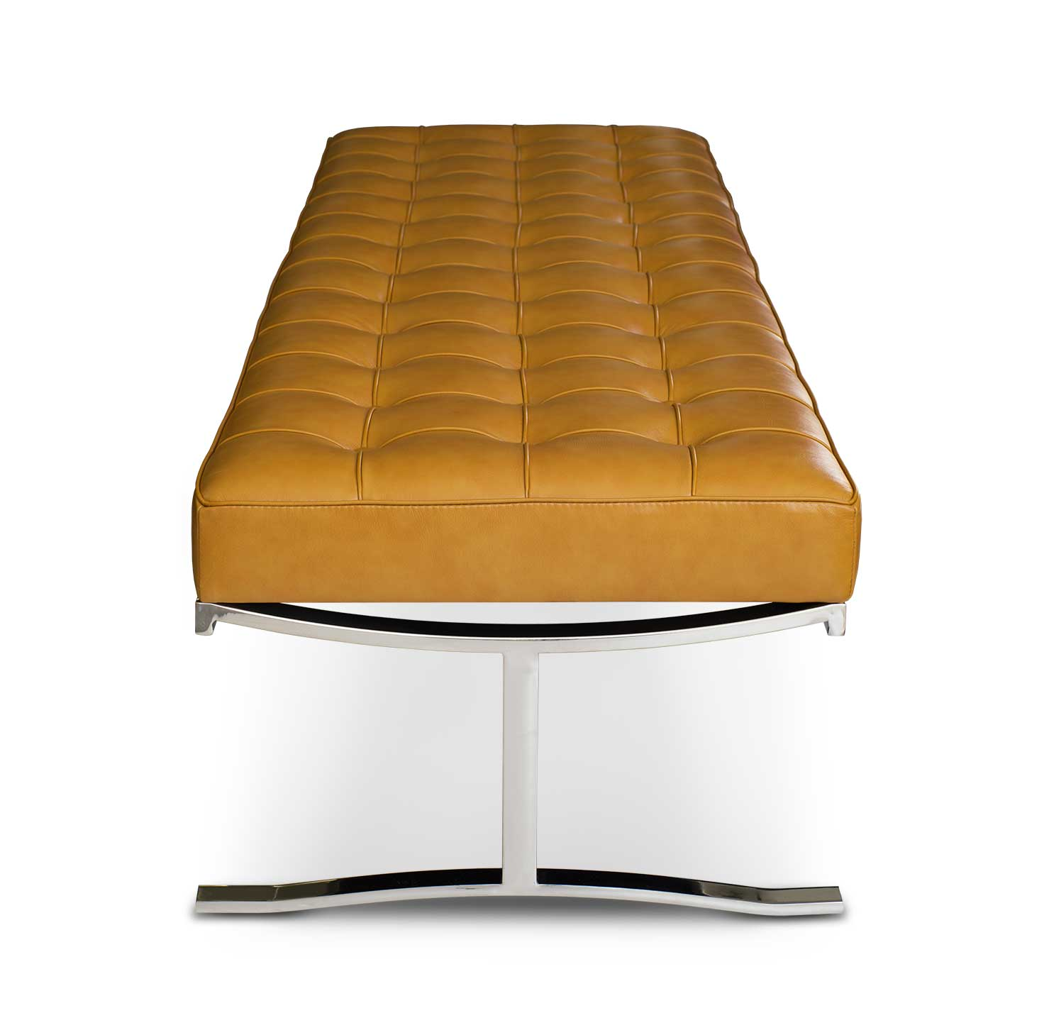 Leather Seating Bench Leather Tan Brown Neuerraum