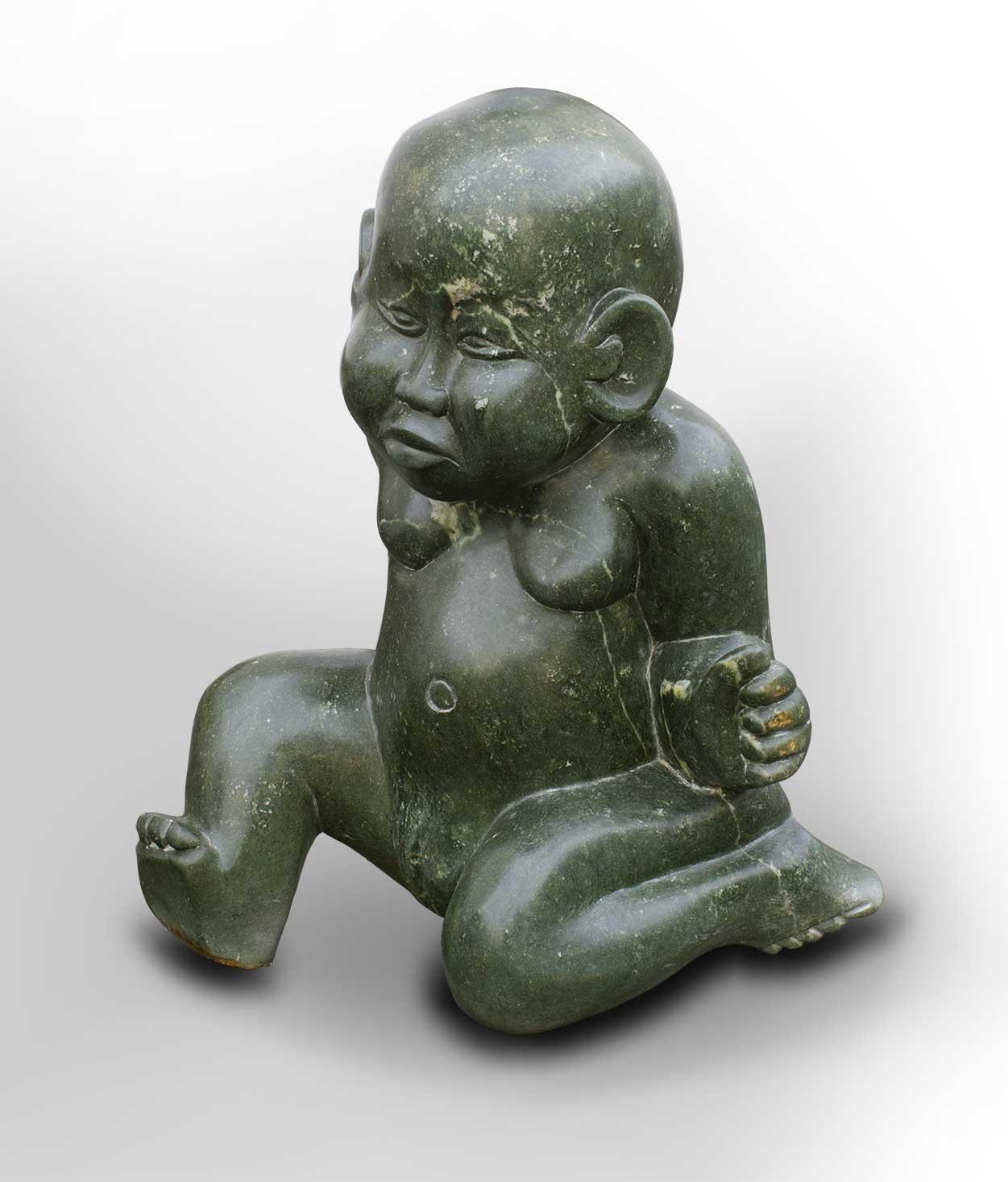Garden stone sculpture angry babies neuerraum
